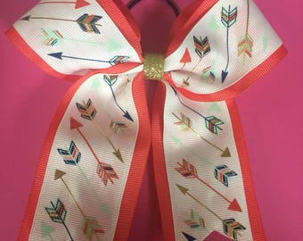 Coral Bow with Arrows