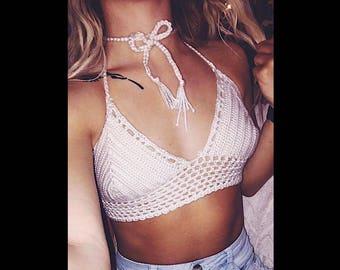 Ivory Bikini Crochet Top