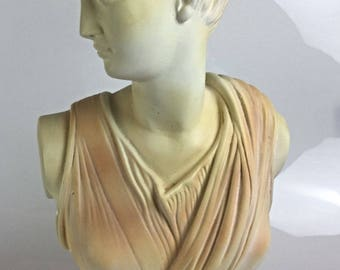 Beautiful and important (6.4 kg) bust goddess Diane Artemis Mythologie Greek