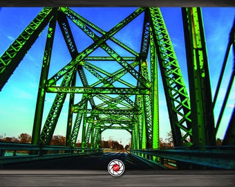 The Green Bridge  - Landscape Photography -Urban Photography - FREE DOMESTIC SHIPPING