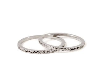 Serpens Silver Stacker Ring