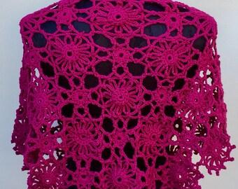 Crochet Flower design shawl