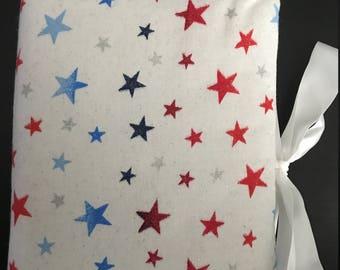 Handmade Photo Album - Red White Blue Stars print