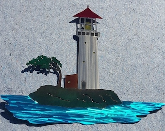Lighthouse Scene Art