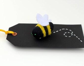 Bumblebee Felt Brooch