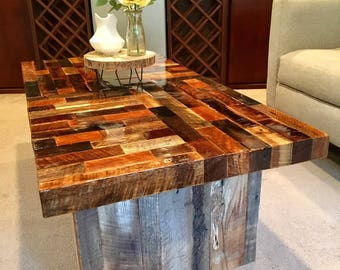 Reclaimed wood coffee table, reclaimed furniture, barn wood table, rustic furniture, farmhouse style
