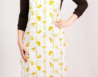 Lemon print apron
