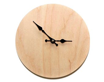 Minimal Clock, Modern Clock, Modern Wall Clock, Wooden Clock, Plywood Clock, Unique Wall Clock, Minimalism, Decorative Clock, MadMadeWorld