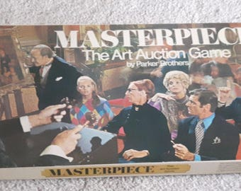 Masterpiece The Art Auction Game Board Game 1970 Parker Brothers 100 % Complete Used Excellent Condition