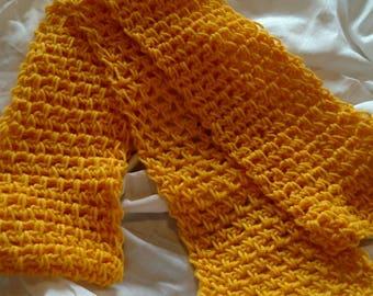 Golden wrap scarf