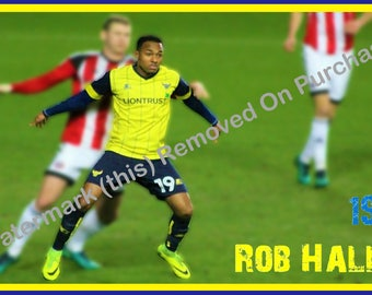 Oxford United Rob Hall Poster