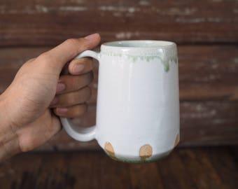 Green Rib Mug by Chatchaiwat Pottery
