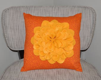 Home decor flower felt pillow