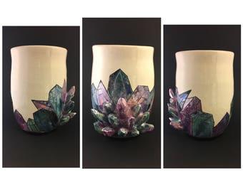 Iridescent Crystal Vase