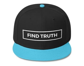 FIND TRUTH - Black and Blue Baseball Cap • Hat