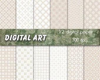 Digital paper sand color set of 12 pcs high quality