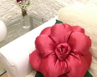 Pillow Pink Luxury design pillow red rose