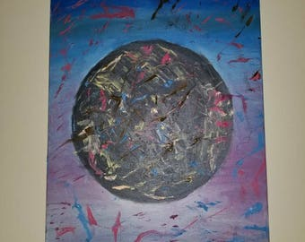 Black Hole Abstract Oil Painting