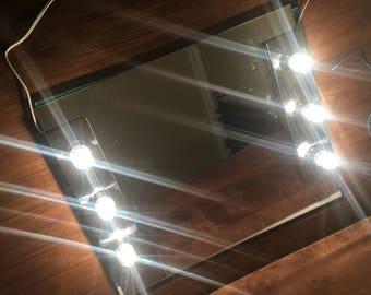 Vanity mirror with lights.