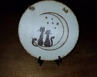 Kitty on moon woodburn