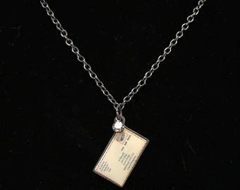 I Love You Postcard Necklace (26 inches)