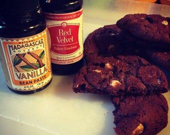 Red Velvet White Chocolate Chip Cookies!