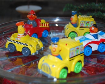 Sesame Street Muppets 1981, 1983 Bert and Ernie Diecast Toy Vehicles by Playskool