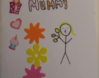 Happy birthday mummy card