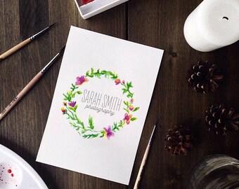 flower logo custom logo design premade logo package watermark photography logo branding package elegant logo floral logo