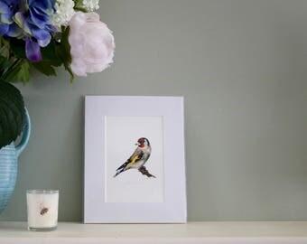 Goldfinch watercolour print