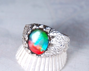 For the man looking for a quality ammolite ring--or would like one as a gift! #112926