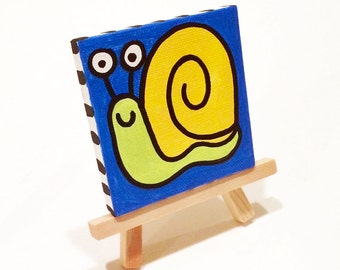 Pokey the Snail 3x3 Minipop Painting