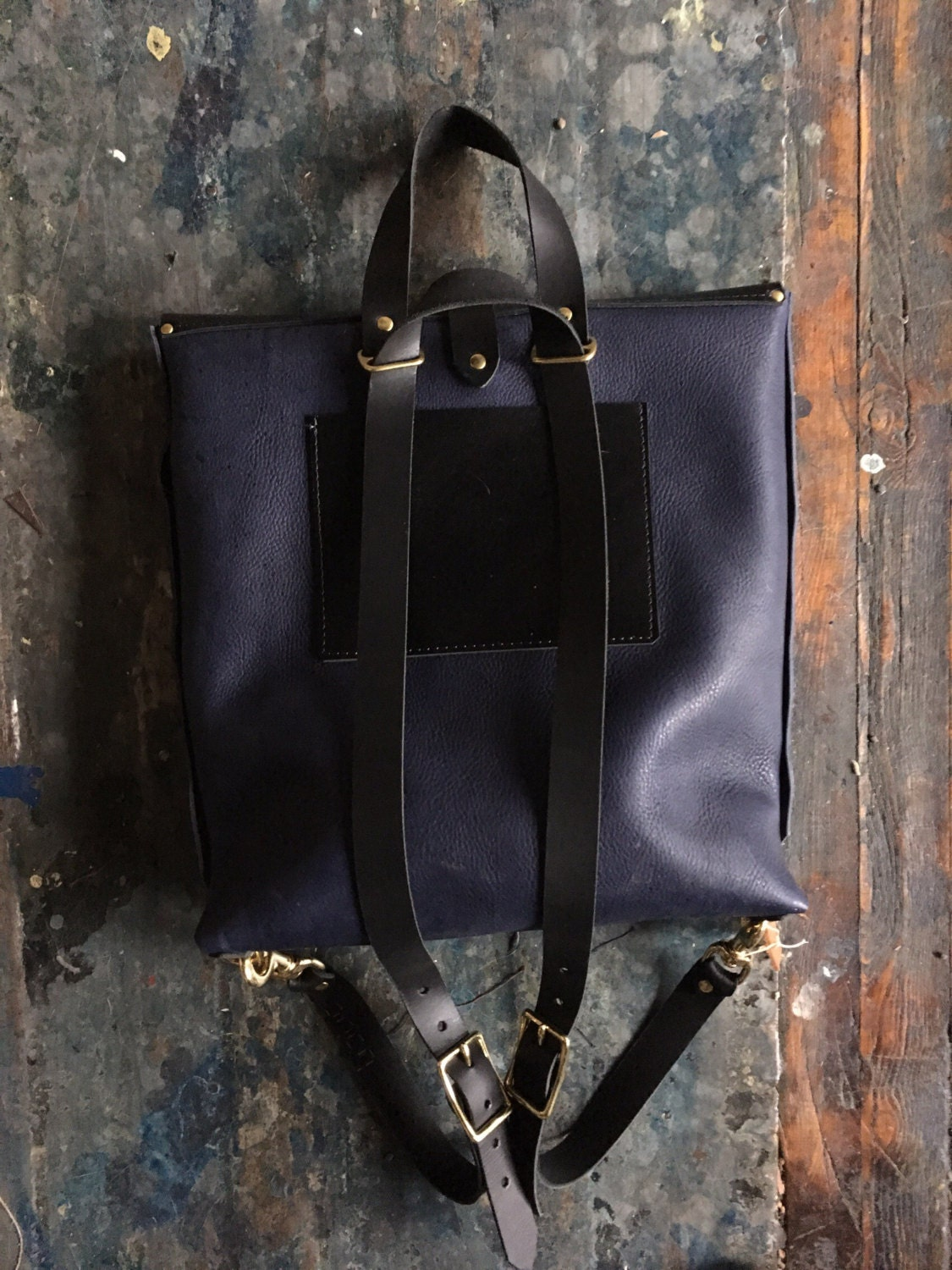 Limited edition pacific rucksack in indigo and black