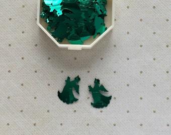Vintage Green Angel Sequins