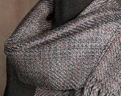 """Handwoven scarf / merino wool scarf / """"rustbelt taupe"""" / winter scarf / man's scarf / woman's scarf"""