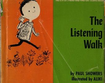 The Listening Walk - Paul Showers - Aliki - 1961 - Vintage Kids Book