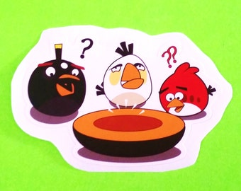 Angry Birds Trio Bomb Chuck Red Video Game App Character Waterproof Vinyl Sticker