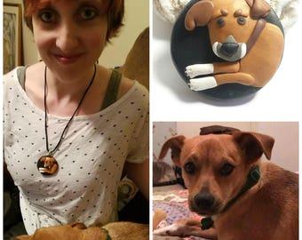 Custom Pet Jewelry Necklace Pendant Pin, Personalized Pet Jewelry Cat Dog Jewelry, Custom Pet from Photo, Pet Memorial Pet Portrait Pet Loss