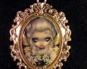 Starry Wild Jasmine Fairy custom cameo necklace