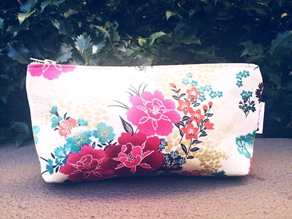 Floral Makeup Bag, Makeup Bag, Small Cosmetic Bag, Toiletry Bag for Women, Floral Cosmetic Bag, Makeup Pouch