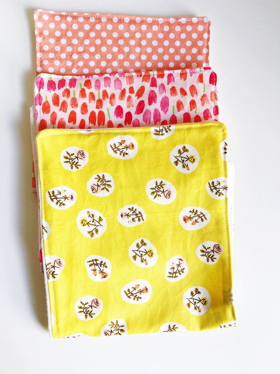 Burp Cloths, Baby Burp Cloths, Burp Cloth Set, Girl Burp Cloth Set, Baby Shower Gift, Cotton Burp Cloth