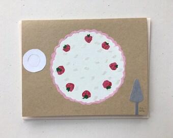 Tres Leches Birthday Cake Card & Print 2016