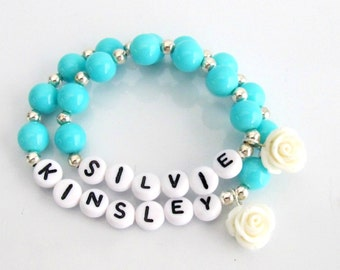 Matching Girl and Doll Jewelry, Me & My Doll Personalized Name bracelet set, Jewelry for a Girl and her Doll Matching Set, Free Shipping USA