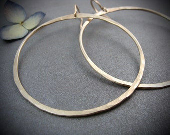 golden moon ... large gold fill hoops