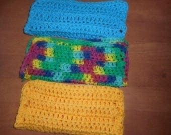 3 Crocheted Dish/Wash Cloths