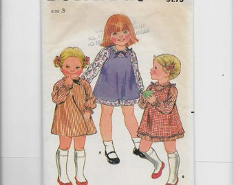 Butterick Toddlers' Pinafore and Dress Pattern 3526