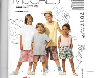 McCall's Children's Shorts in Two Lengths Pattern 7017
