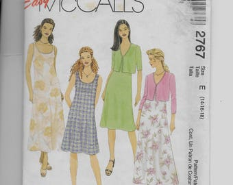 McCall's Misses' Dress  and Unlined Jacket  Pattern 2767