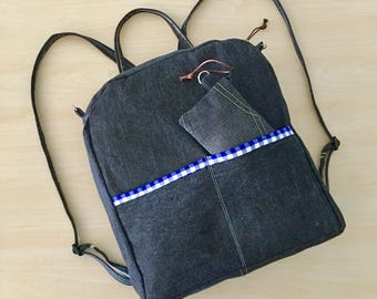 Graphite Everyday Backpack and MiniZ OOAK