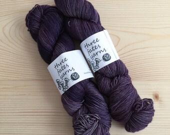mosby  - aurai fingering weight merino yak nylon sock yarn, dyed to order